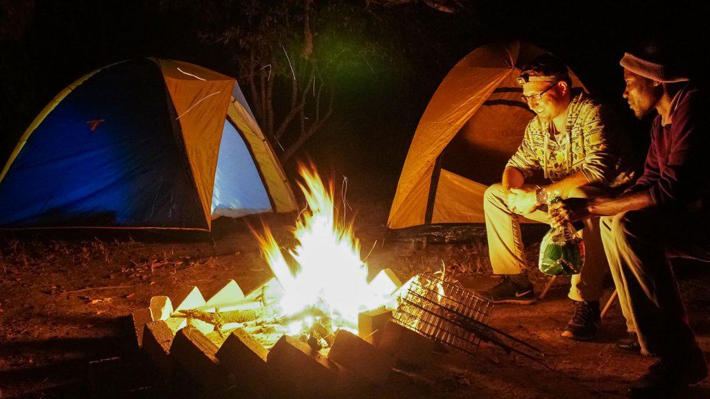 Kruger kamperen kampvuur