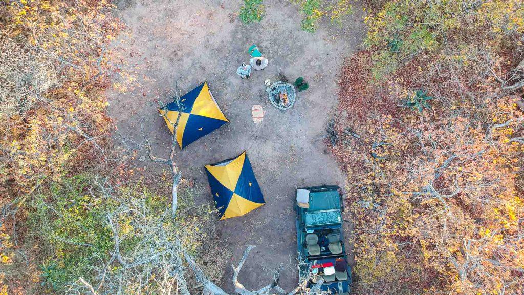 Kruger kamperen drone