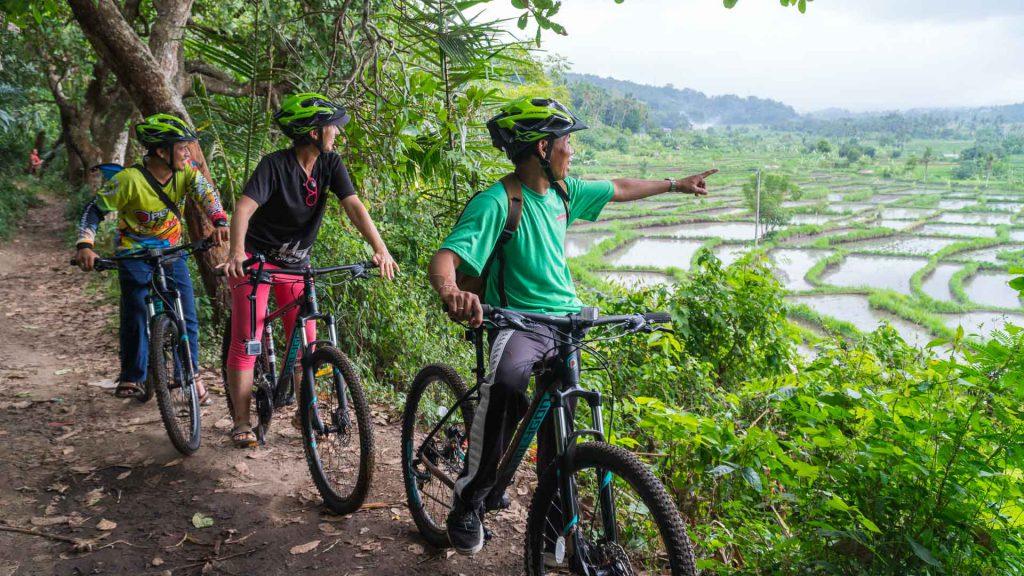 Mountainbike rijstvelden Bali