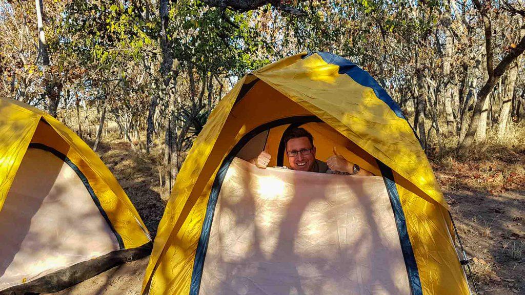 Tent bij Kruger park