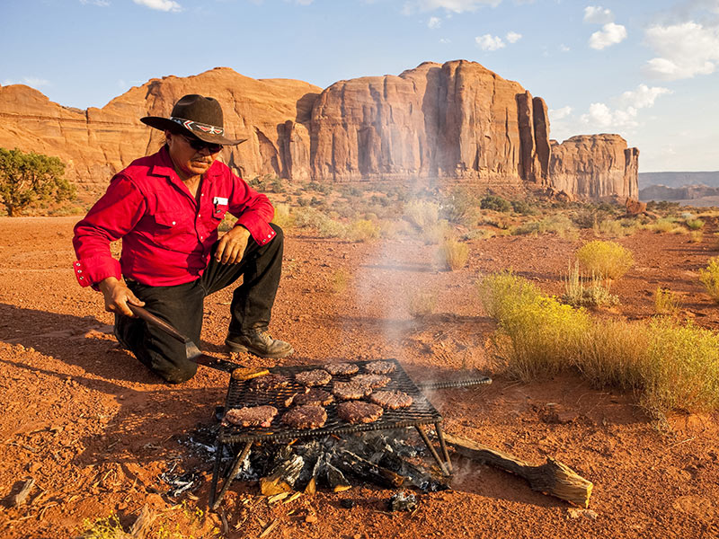 Guide while camping in Monument Valley