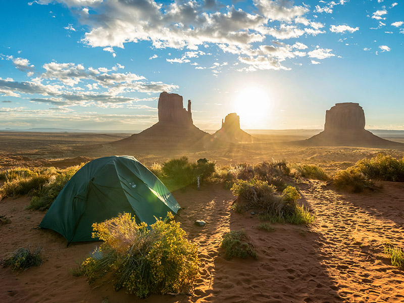 Camping in Monument Valley National Park
