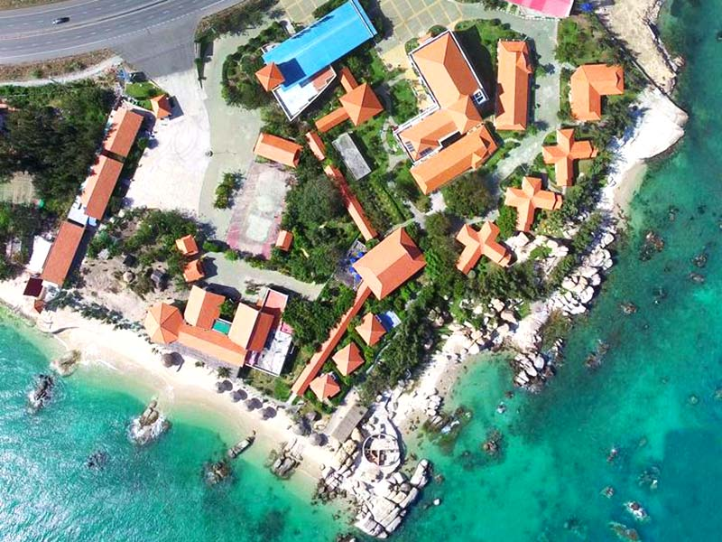 Vietnam resort from above