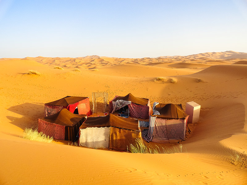 Bedouin camp in Morocco